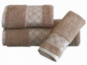 Froté ručníky PORTO kruhy béžové