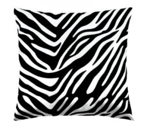 Zebra bílá/černá polštářek dekorační 45x45 cm