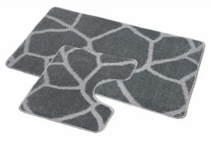 Bellatex koupelnová předložka šedá zeď sada 60x100 + 60x50 WC