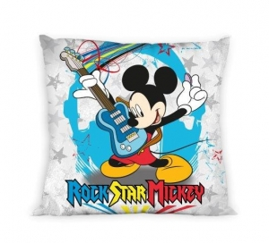 Rock Star Mickey povlečení na polštář 40x40 cm