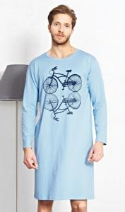 d74dd311c55 Pánská noční košile s dlouhým rukávem Velociped
